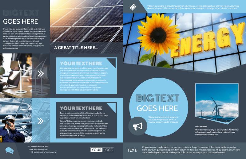 Renewable Energy Consultants Brochure Template Preview 2