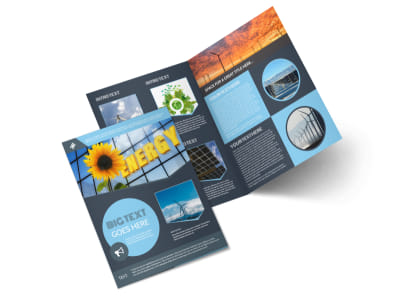 Renewable Energy Consultants Bi-Fold Brochure Template preview