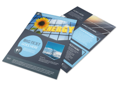 Renewable Energy Consultants Flyer Template