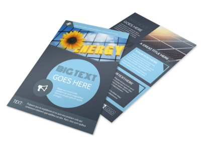 Renewable Energy Consultants Flyer Template preview