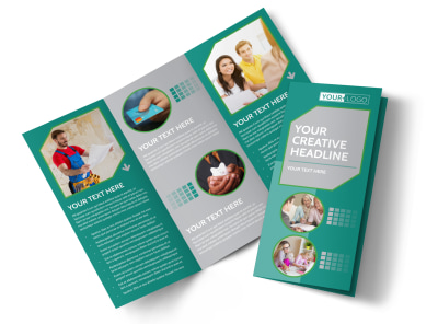 Personal Finance Consulting Tri-Fold Brochure Template preview