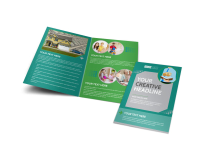 Personal Finance Consulting Bi-Fold Brochure Template preview