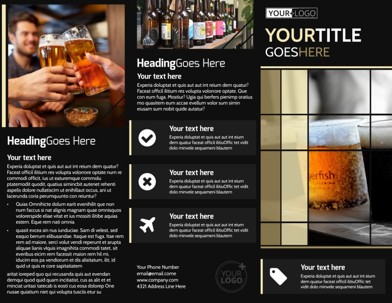 Beer Festival Brochure Template Preview 2