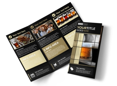 Beer Festival Tri-Fold Brochure Template preview