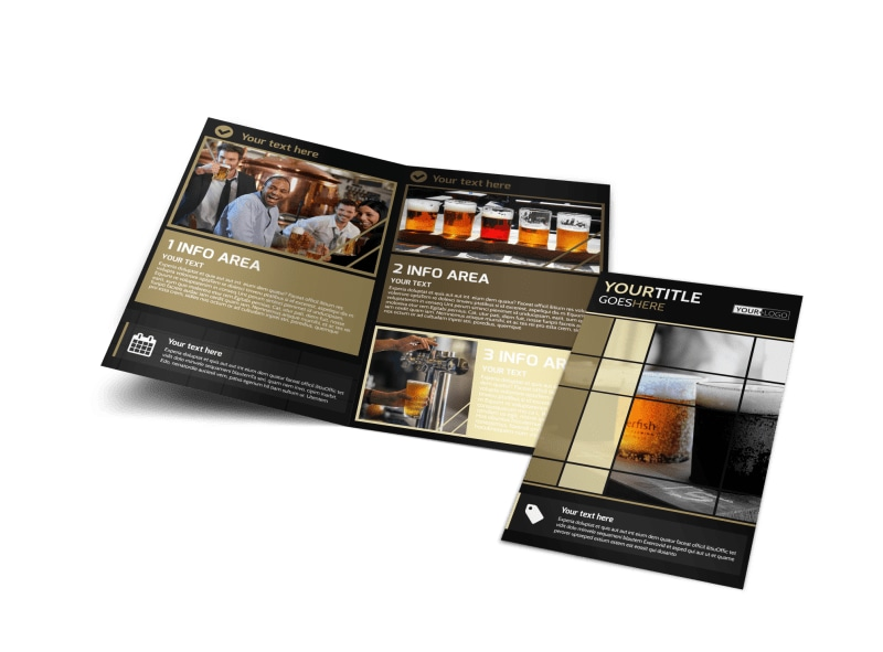 Beer Festival Bi-Fold Brochure Template