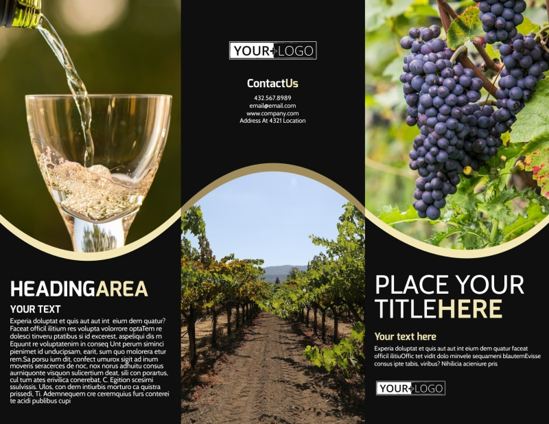 Winery & Wine Making Brochure Template Preview 2