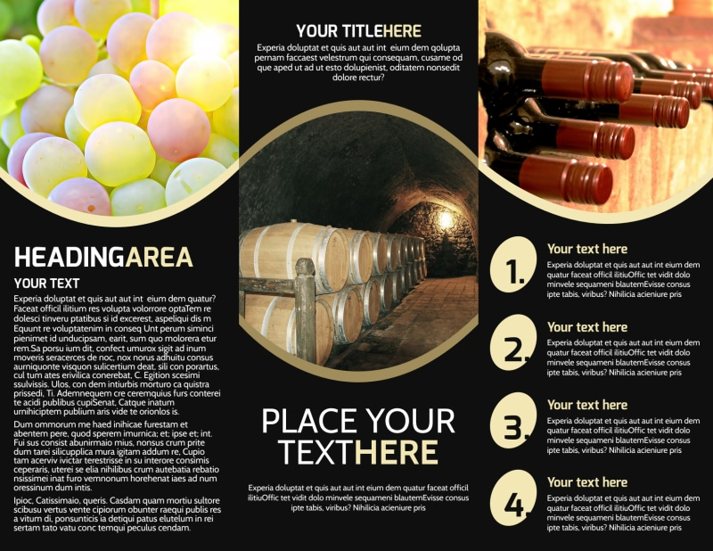 Winery & Wine Making Brochure Template Preview 3