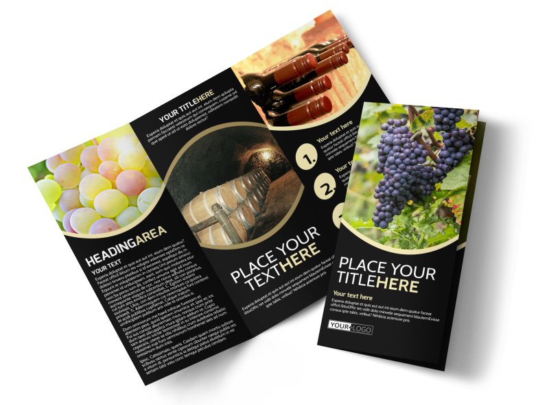 Winery & Wine Making Brochure Template Preview 1