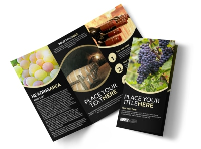 Winery & Wine Making Tri-Fold Brochure Template preview