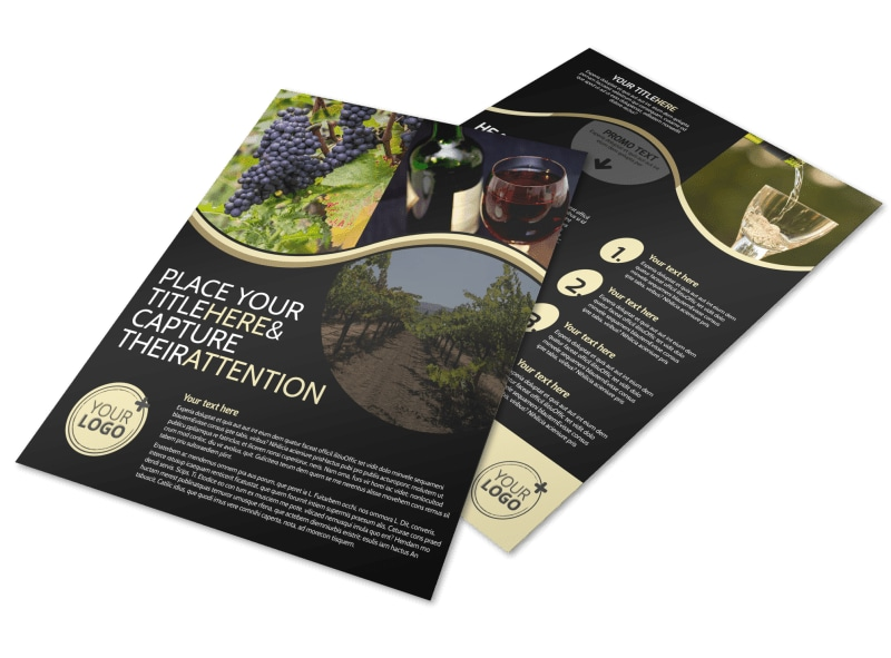 Winery U0026 Wine Making Flyer Template  Advertisement Flyer Maker
