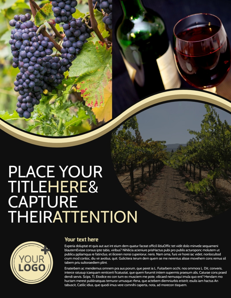 Winery & Wine Making Flyer Template Preview 2