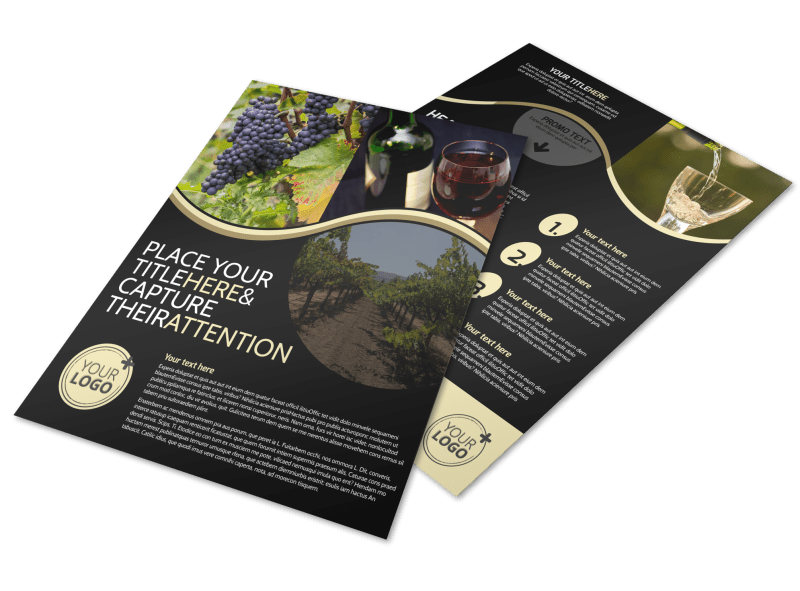 Winery & Wine Making Flyer Template Preview 1