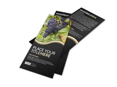 Winery & Wine Making Flyer Template preview