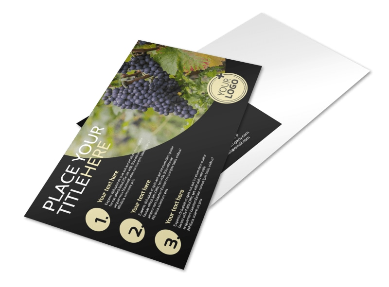 Winery & Wine Making Postcard Template