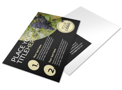 Winery & Wine Making Postcard Template preview