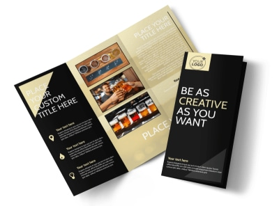 Hand Crafted Beer Tri-Fold Brochure Template
