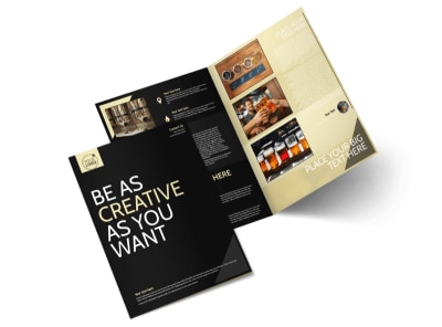Hand Crafted Beer Bi-Fold Brochure Template