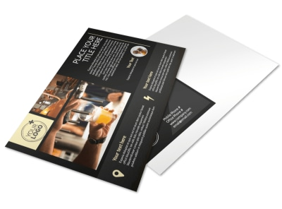 Hand Crafted Beer Postcard Template