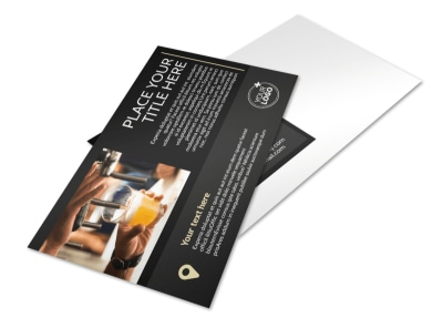 Hand Crafted Beer Postcard Template preview