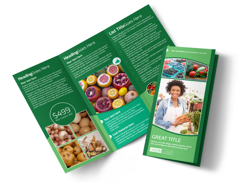 Healthy Farmers Market Brochure Template Preview 1