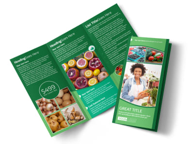 Healthy Farmers Market Tri-Fold Brochure Template