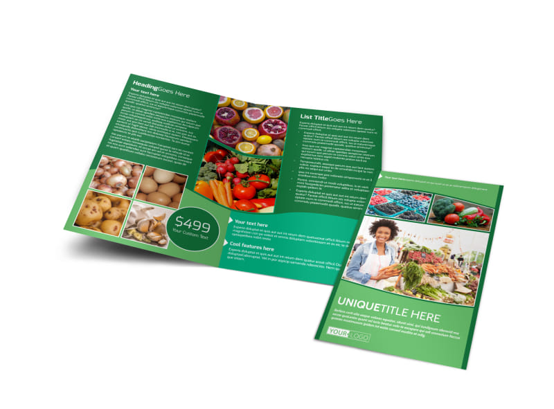 Healthy Farmers Market Brochure Template Preview 4