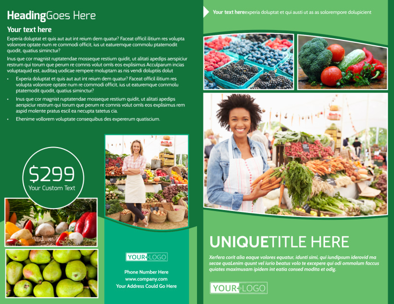 Healthy Farmers Market Brochure Template Preview 2