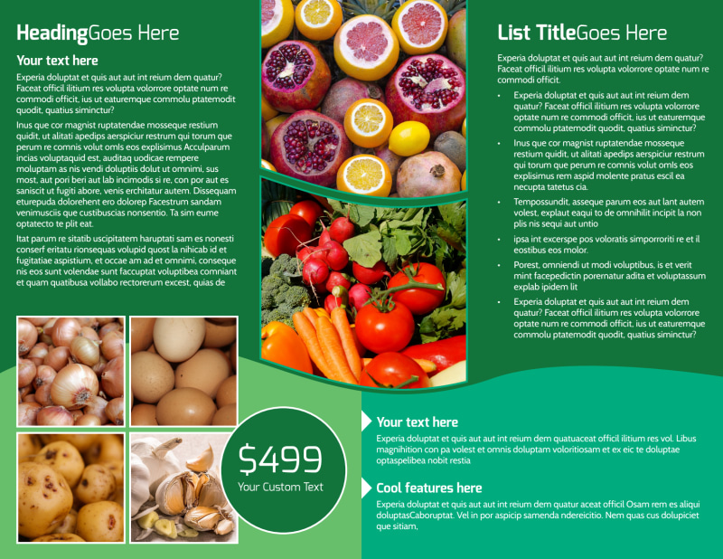 Healthy Farmers Market Brochure Template Preview 3