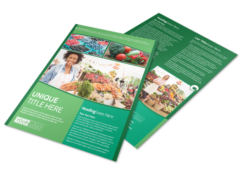 Healthy Farmers Market Flyer Template Preview 1