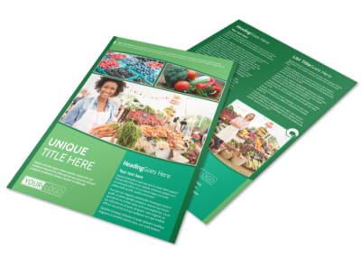 Healthy Farmers Market Flyer Template preview