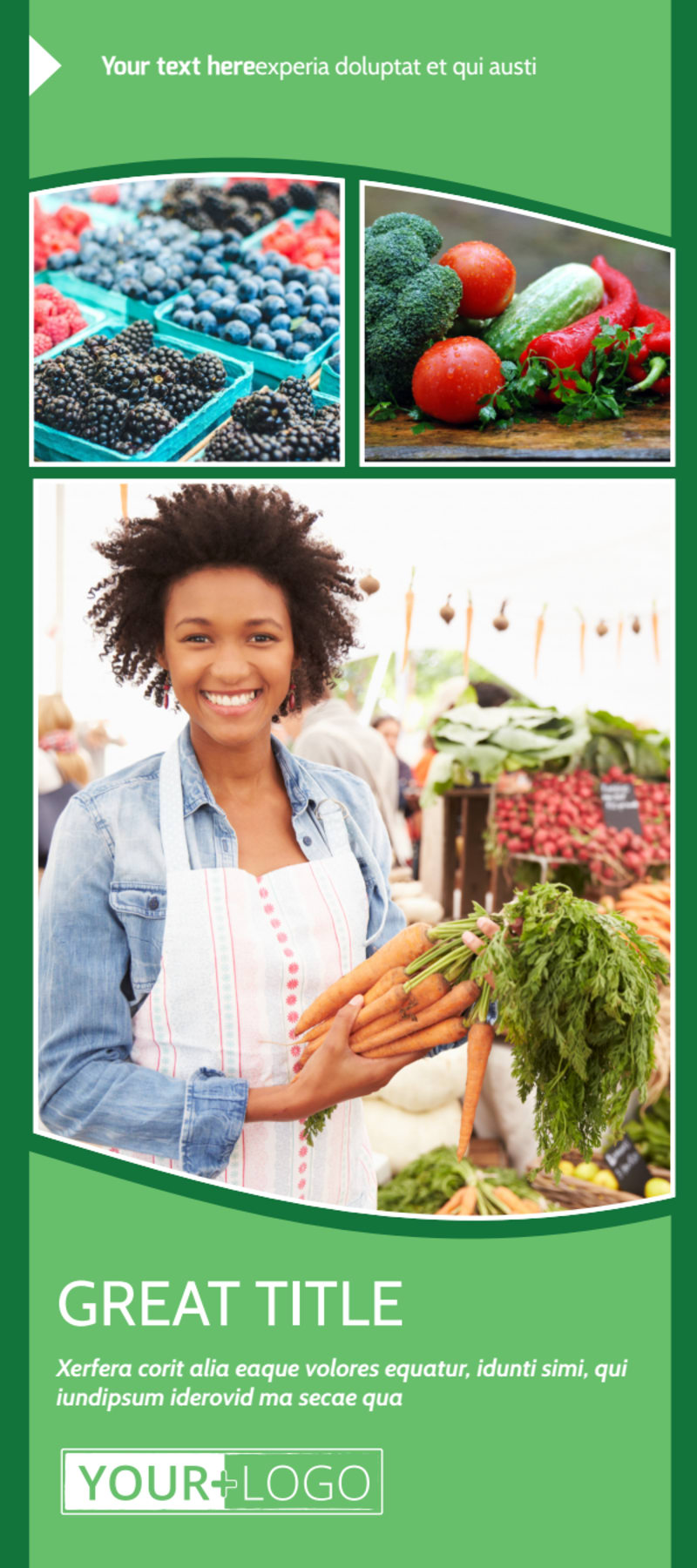 Healthy Farmers Market Flyer Template Preview 2