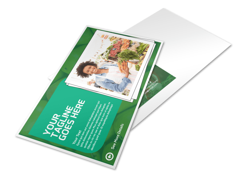 Healthy Farmers Market Postcard Template Preview 1