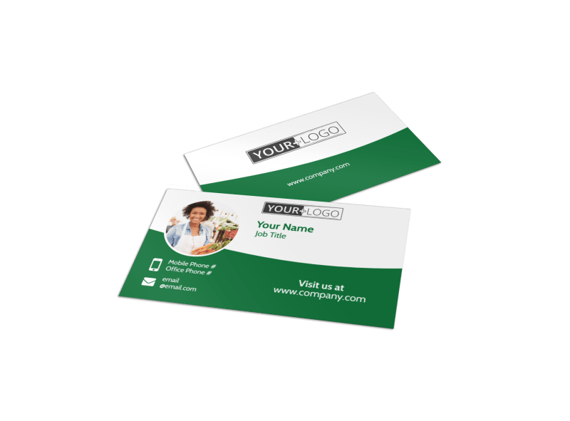 Healthy Farmers Market Business Card Template Preview 1