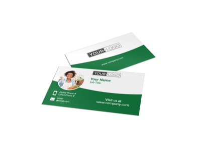 Healthy Farmers Market Business Card Template preview
