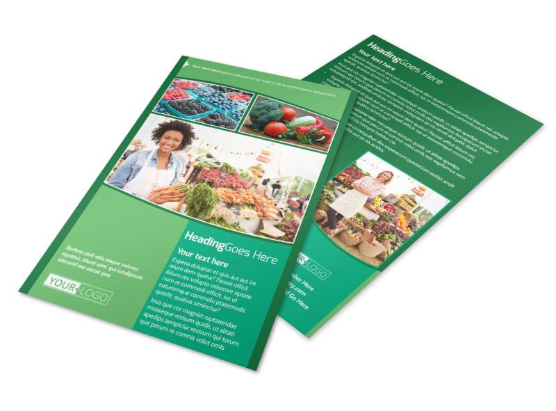Healthy Farmers Market Flyer Template