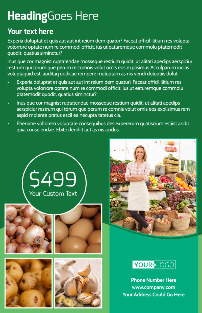 Healthy Farmers Market Flyer Template Preview 3