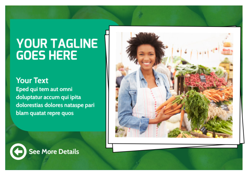 Healthy Farmers Market Postcard Template Preview 2