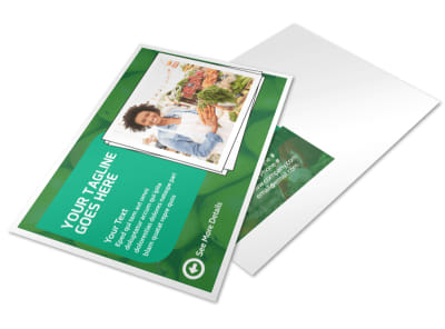 Healthy Farmers Market Postcard Template preview