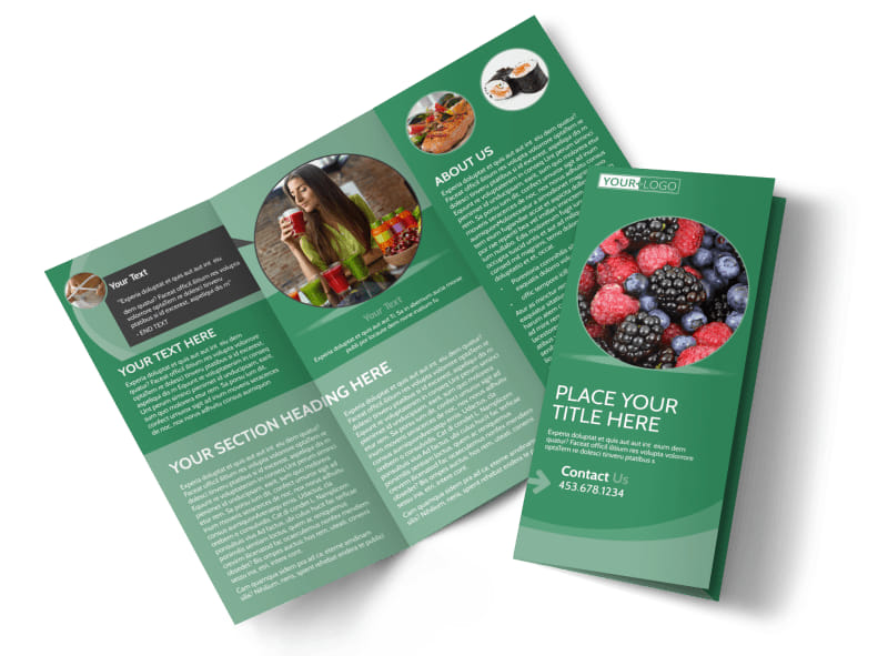 Total Nutrition Professionals Tri-Fold Brochure Template