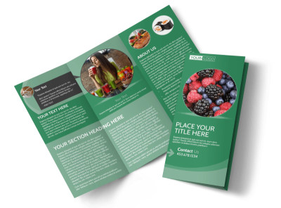 Total Nutrition Professionals Tri-Fold Brochure Template preview