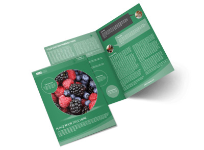 Total Nutrition Professionals Bi-Fold Brochure Template preview