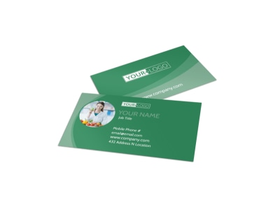 Total Nutrition Professionals Business Card Template preview
