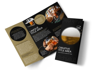Craft Brewery Tri-Fold Brochure Template preview