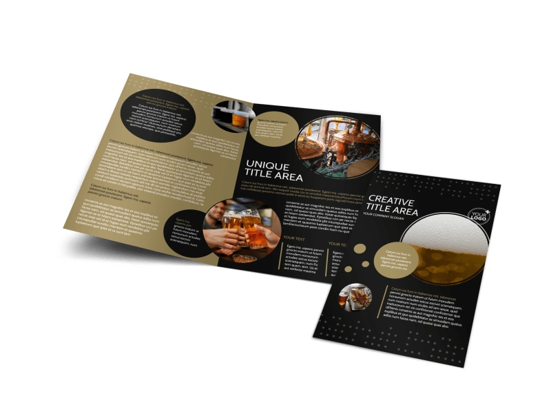 Craft Brewery Bi-Fold Brochure Template