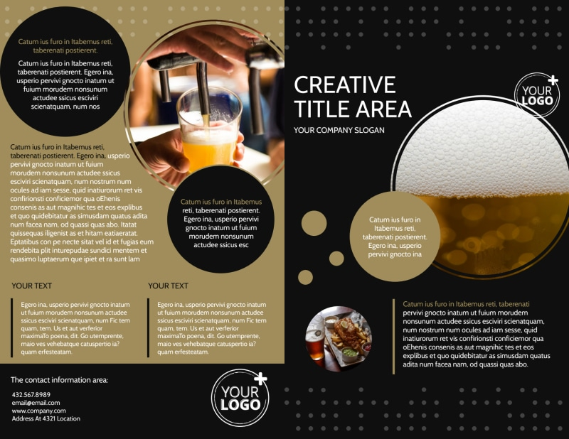 Craft Brewery Brochure Template Preview 2