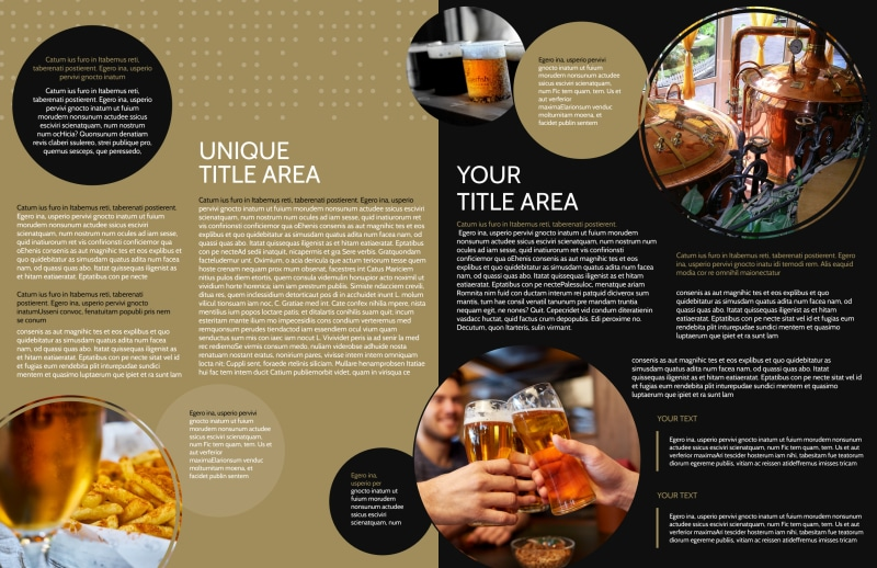 Craft Brewery Brochure Template Preview 3