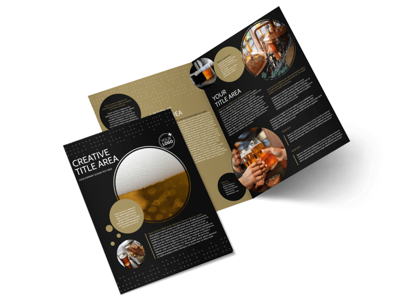 Craft Brewery Brochure Template Preview 1