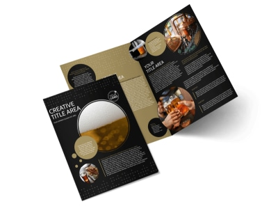 Craft Brewery Bi-Fold Brochure Template preview