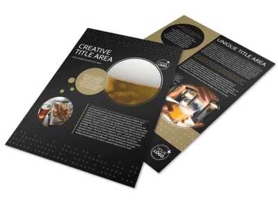 Craft Brewery Flyer Template