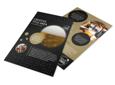 Craft Brewery Flyer Template preview